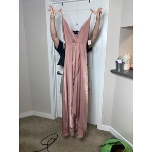 BRAND NEW rose pink gown